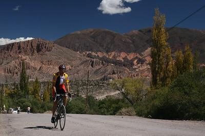 Biking along the Quebrada de Humahuaca