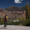 Biking along the Quebrada de Humahuaca