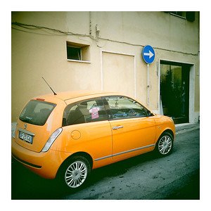 Fiats on small streets: practical, colorful, smart.
