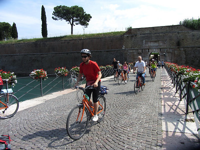 Exiting Fortress Peschiera: Day 11 of Plus! tour