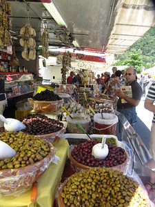 Olives at a market in Maggiore