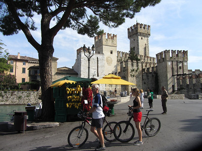 Castle in Sirmone, a car-free town near Lake Garda: Day 10 of Plus! tour