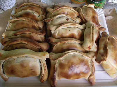 Empanadas in all shapes and sizes can be found in Chile.
