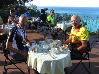 Breakfast on the terrace in northern Calabria