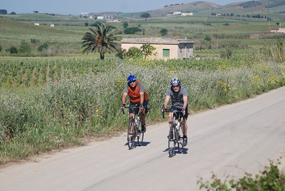 Dan and Fritz on the road from Alcamo
