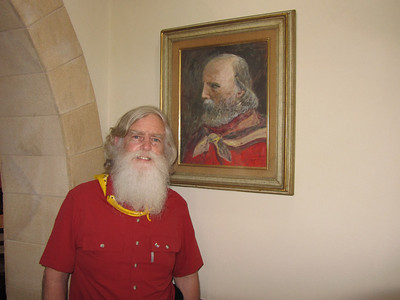 Rick and Garibaldi at Trattoria Garibaldi in Marsala, Italy