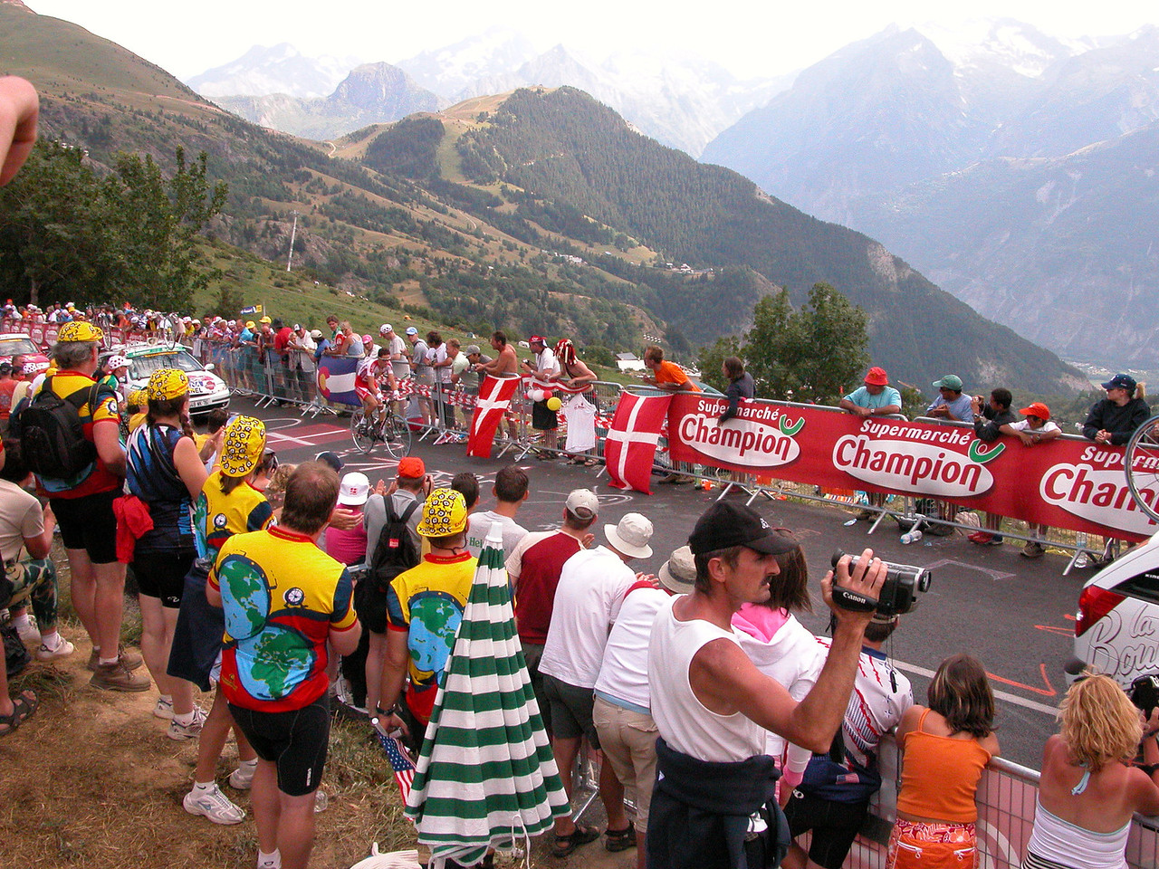 Alpe d'Huez - during 2004 time trial