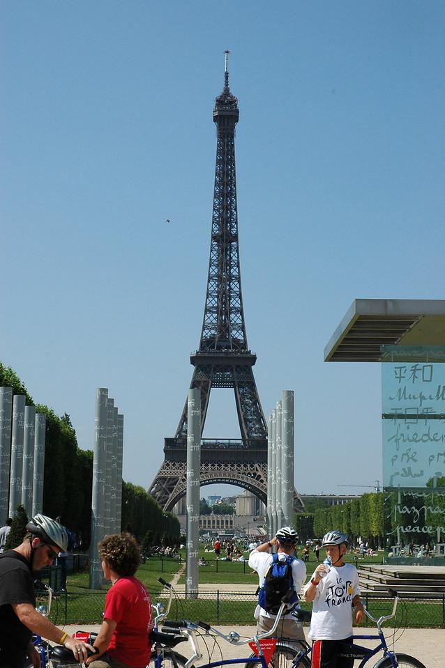 Paris during the Tour de France finale.