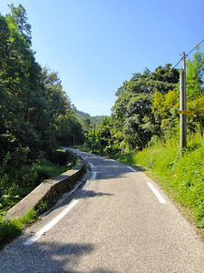 Quiet roads that are typical of this tour's routes