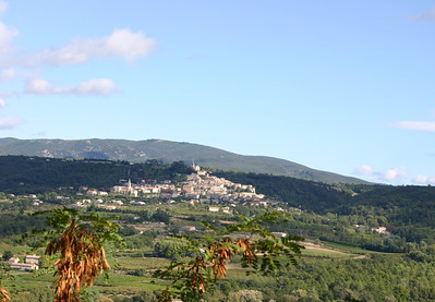 Bonnieux seen from Lacoste