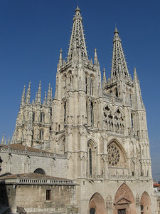 Burgos Cathedral from our hotel