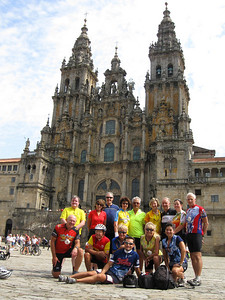 Group picture in front of Santiago de Compostela Cathedral