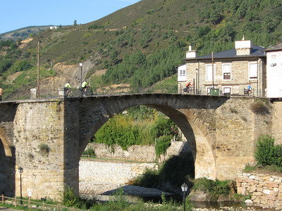 Bicycling over roman bridges is common on this route