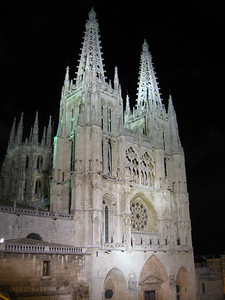Burgos Cathedral by night