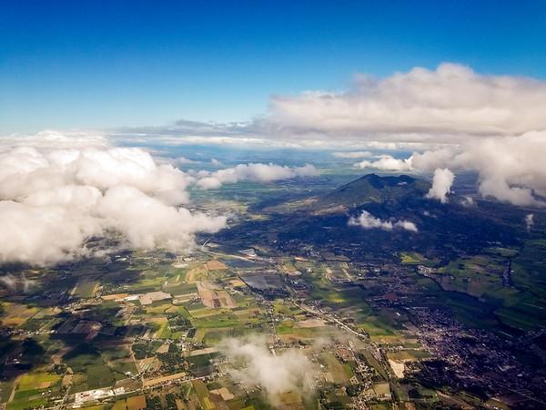 Flight over Mt. Arayat on the way to Busuanga