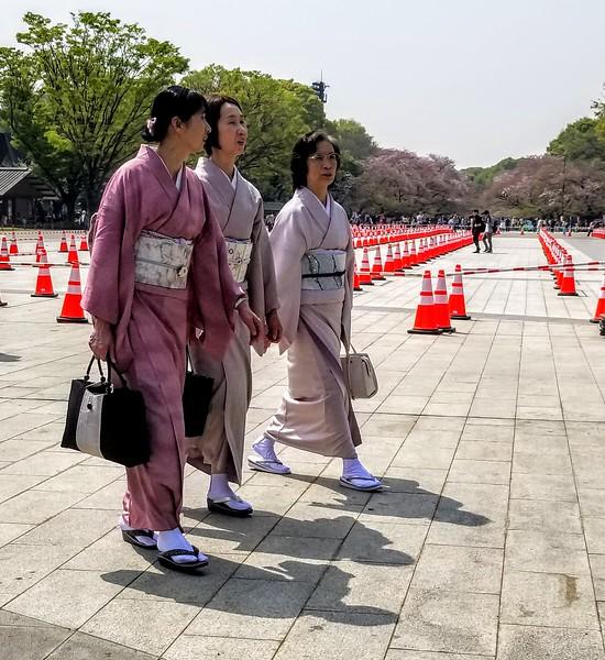 Kimono'd ladies