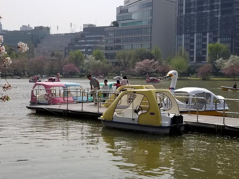 Ueno Lake with pleasure boats