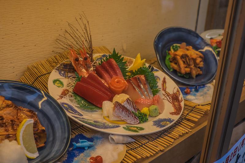 Plastic sashimi display
