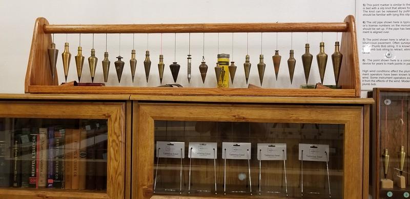 Surveyor's office plumb weights