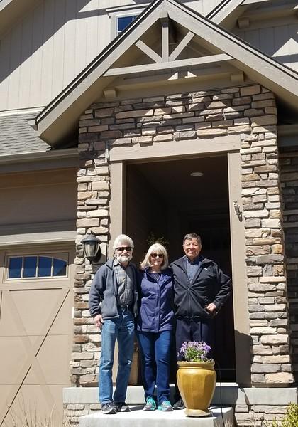 Paul, Kathy and Rick at Aurora Home