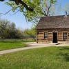 "Teddy's ""Maltese Cross"" ranch cabin, preserved and transported to site."