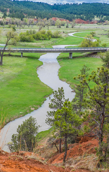 Bridge across the Belle Fourche into the National Monument
