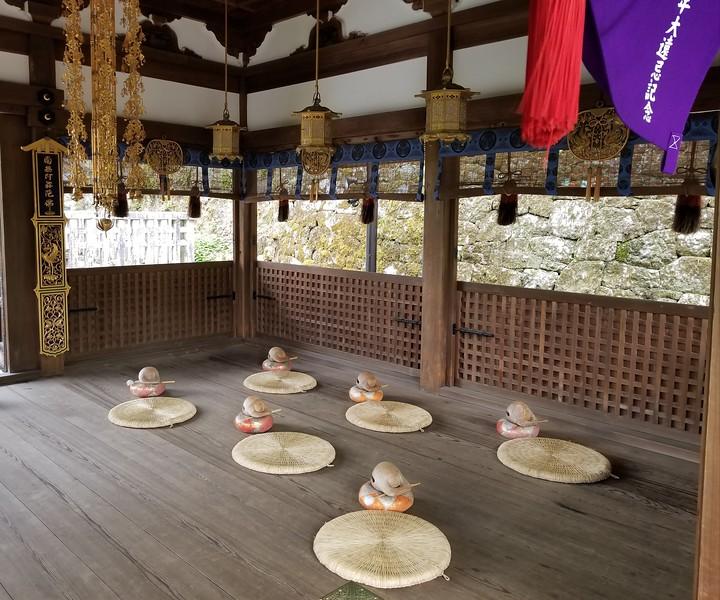 Monk prayer area