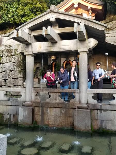 Sacred spring of Kiyomizu-dera Temple