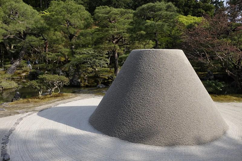Sculpted mound at Ryoan-Ji Zen garden