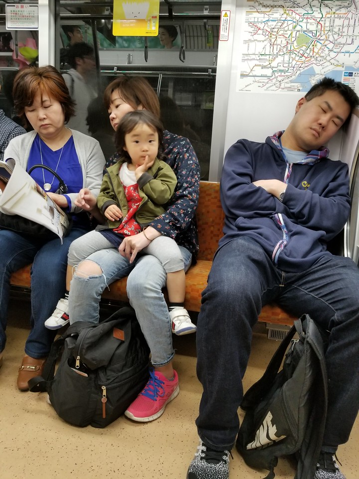 Man-spreading on the subway