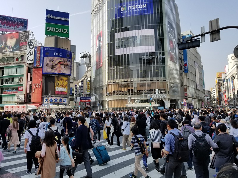 Shibuya crossing - busiest intersection on earth