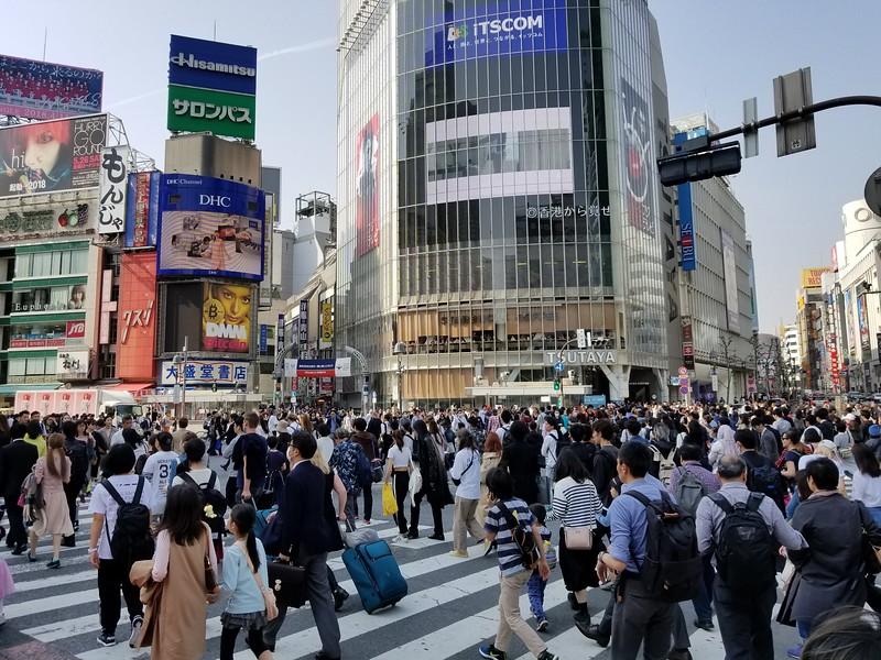 Shibuya crossing - busiest intersection on earth