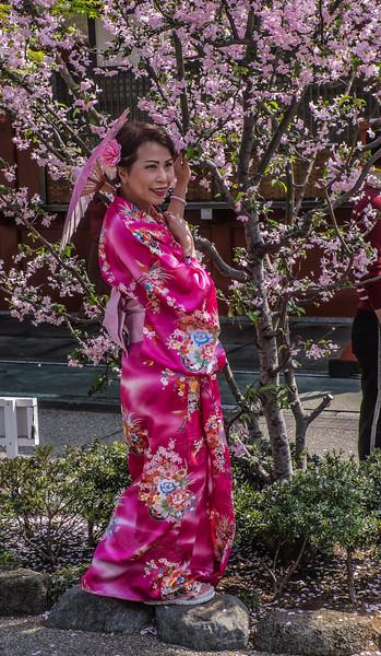 Kimono posing
