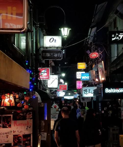 "Golden Gai - scruffy alley of bars ""etc."""