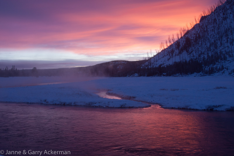 Sunrise in Yellowstone