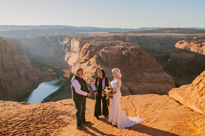 Kim + Gary: Horseshoe Bend Elopement!