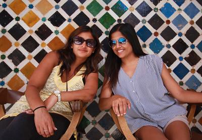 Friday family Alhambra tour; Shailini and Purvi
