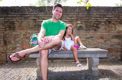 Friday family Alhambra tour; Matt and Sophia Applebum