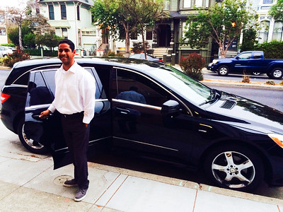 """The """"road to Fareema"""" starts in a station wagon. I mean black car. :)"""