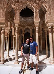 Friday family Alhambra tour; Joe and Saumil