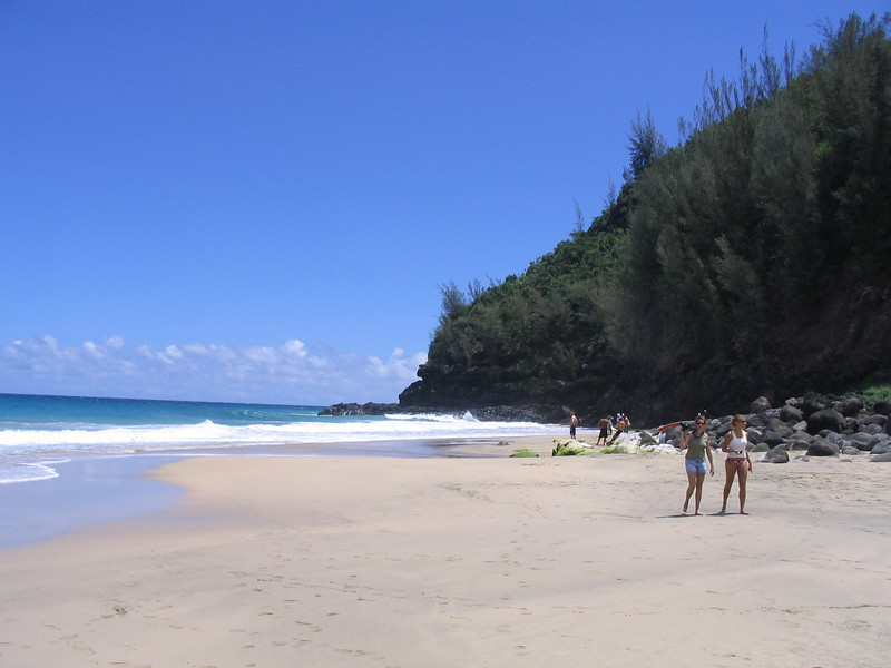 A deserted beach at approx mile 3 of  Kalalau Trail