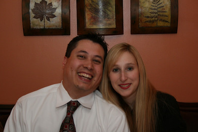 Our 2 year anniversary - Bham, AL.  Dinner at the Marcaroni Grill.