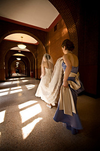 Walking through the halls of Healy - Washington, DC ... April 26, 2008 ... Photo by Holland Photo Arts