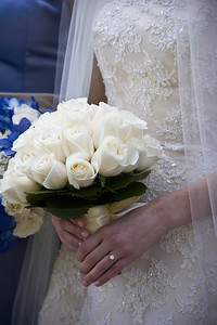 Emily holds her bouquet - Washington, DC ... April 26, 2008 ... Photo by Holland Photo Arts