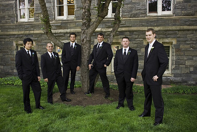 Rob with his groomsmen - Washington, DC ... April 26, 2008 ... Photo by Holland Photo Arts