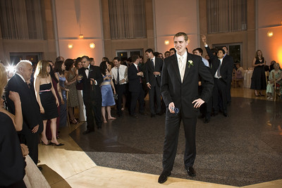 Getting ready to toss the garter - Washington, DC ... April 26, 2008 ... Photo by Holland Photo Arts