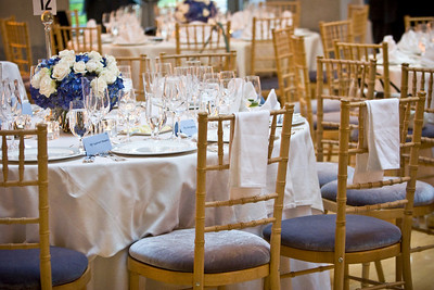 The banquet tables - Washington, DC ... April 26, 2008 ... Photo by Holland Photo Arts