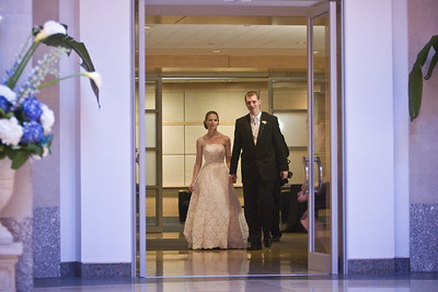 Entering the reception hall for the first dance - Washington, DC ... April 26, 2008 ... Photo by Rob Page III