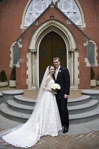 Rob and Emily in front of the chapel - Washington, DC ... April 26, 2008 ... Photo by Holland Photo Arts