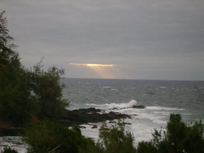 First morning in Hawaii.